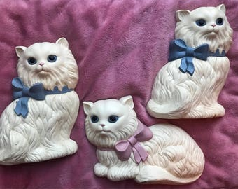 Vintage hanging kitties with bows