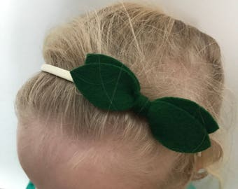 St Patricks day green topknot on band