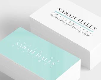 Simple Business Card Template, Minimalistic Calling Card Digital Download, Elegant Business Card, Modern Business Card