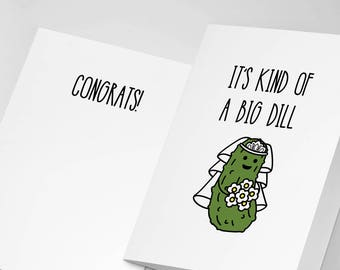 Funny Wedding Card, Funny Greeting Card, Wedding Card, Pickle Card, Funny Engagement Card, Engagement Card