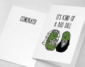 Funny Wedding Card | Wedding Congratulations Card | Pickle Wedding | Funny Engagement Card | Engagement Card