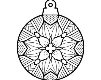 Winter Mandala Holiday Printable Coloring Page Instant | Etsy