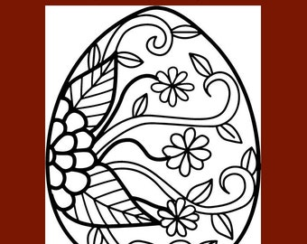 Intricate Easter Egg coloring page | Free Printable Coloring Pages | 270x340