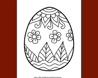 Easter Egg with Star Pattern coloring page from Easter eggs ... | 270x340