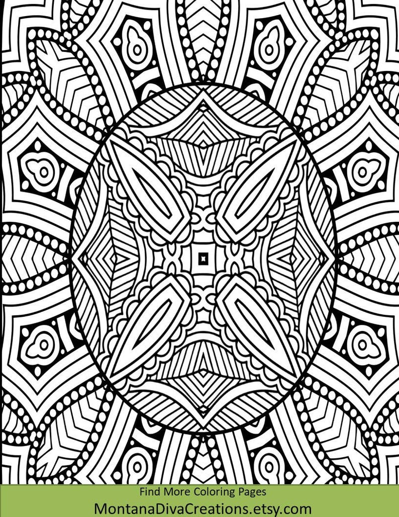 African Shield Art Coloring Sheet - Pretty Pattern - Printable Coloring  Page - Instant Download - Coloring Therapy Themed Mindfulness Page