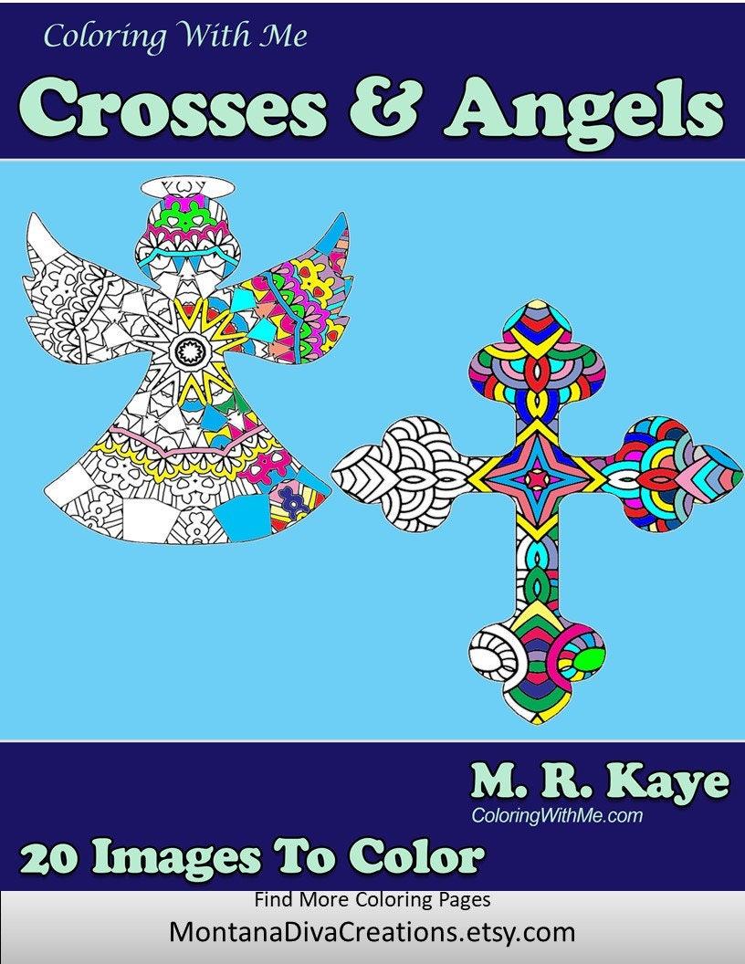 Crosses and Angles Holiday Mandala Adult Coloring Book 20 | Etsy