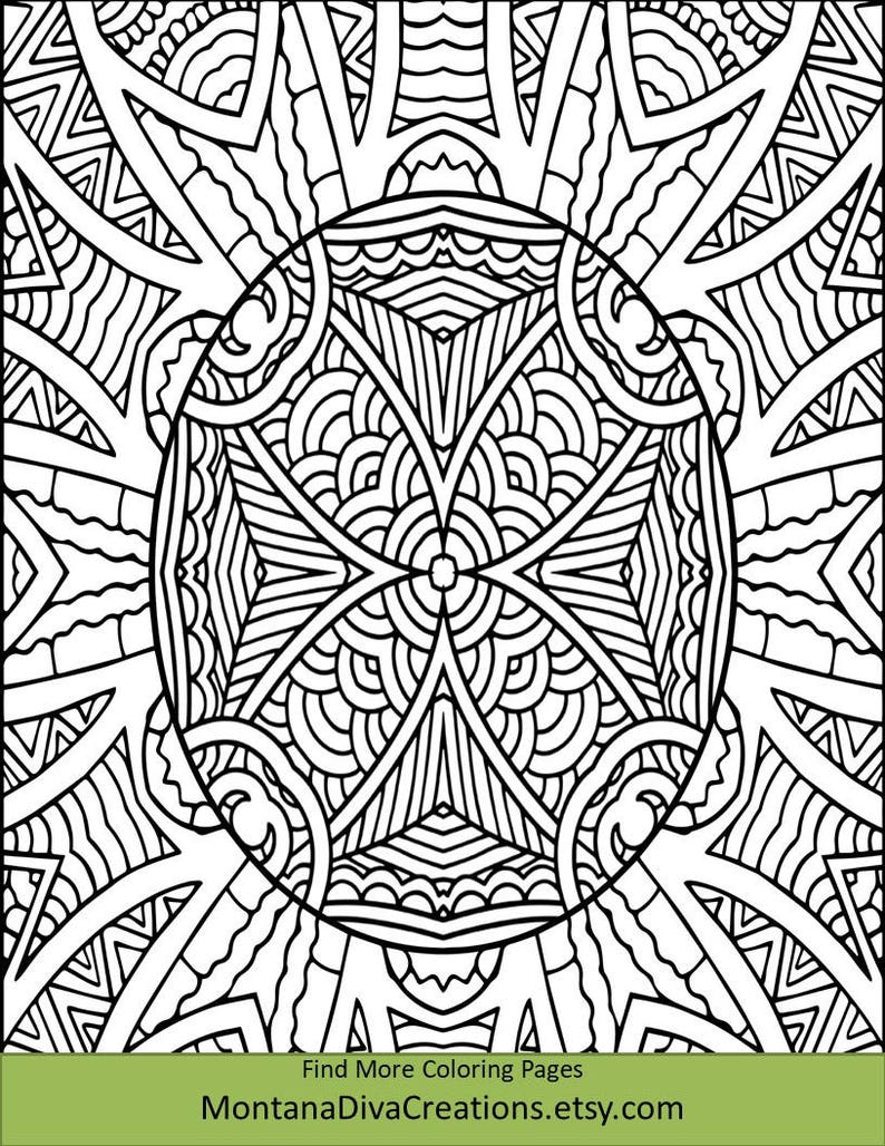 Stylized African Shield Art Coloring Sheet - Pretty Pattern - Printable  Coloring Page - Instant Download - Mindfulness Page