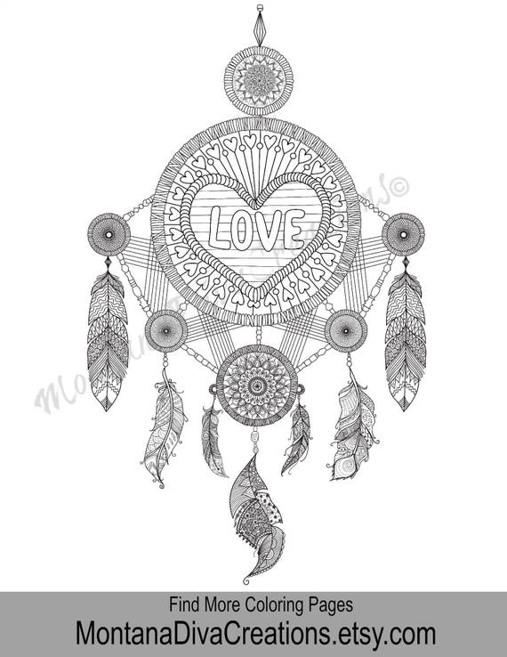 Love Coloring Adult Coloring Page Printable Coloring Art | Etsy
