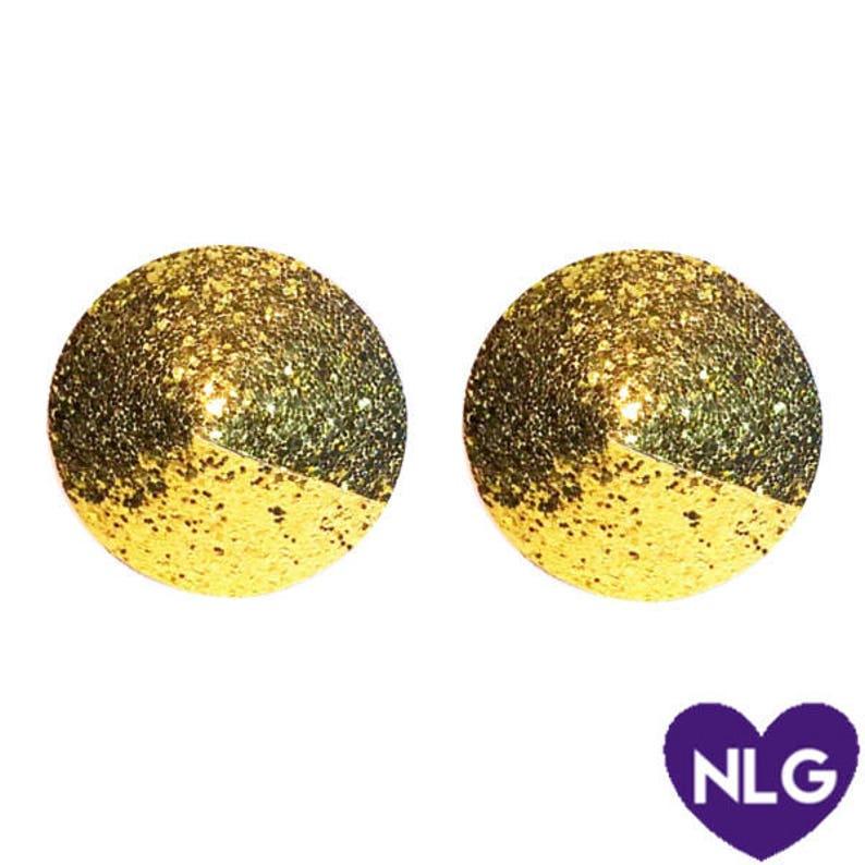 Glitter Pastie Nipple Pastie Round Pastie Exotic Dancewear Rave Wear Lingerie Set Burlesque Wear Gold Pastie Adult Wear