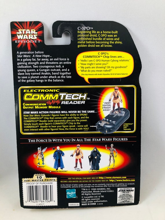 Hasbro Star Wars Episode 1 C-3PO Action Figure CommTech Chip Edition NEW!