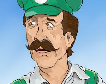Super Mario art print- Luigi