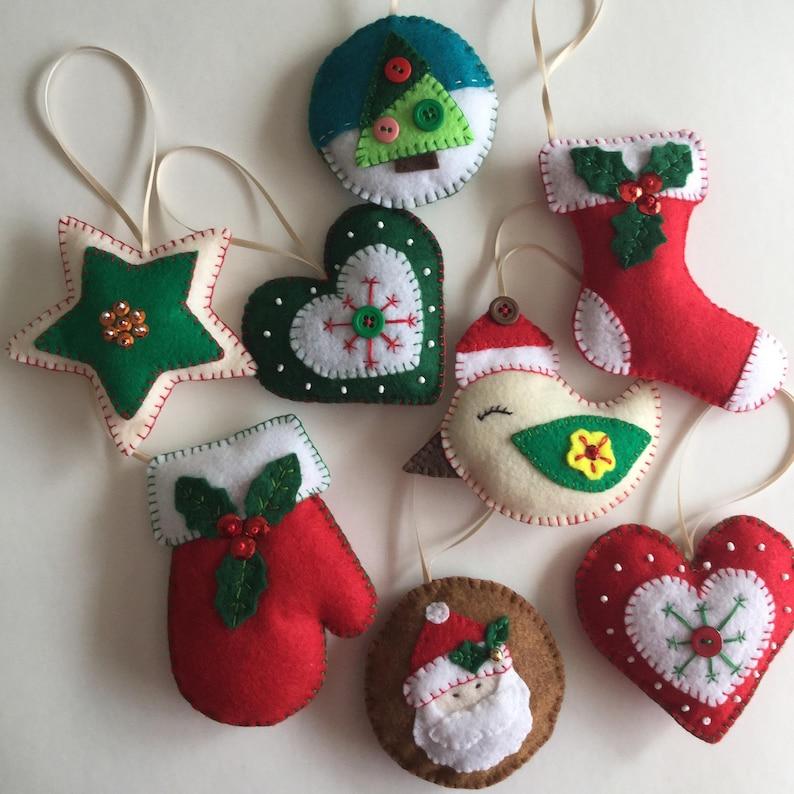 Felt Christmas Ornaments.Felt Christmas Ornaments Christmas Decorations Bird Ornaments Star Ornaments Christmas Stockings Santa Ornaments Christmas Decor