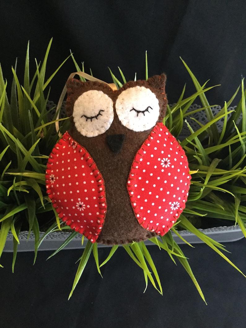Owl Christmas Ornaments Felt Owl Ornaments Christmas Tree Etsy
