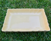 Vintage Los Angeles Potteries Canary Yellow Rectangular Serving Dish (No. 300) Retro Bakeware