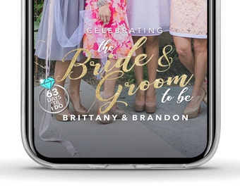 Bride and Groom Snapchat Filter Wedding Shower Couple's Shower Couple Shower Bridal Shower Snapchat Filter Wedding Snapchat Geofilter