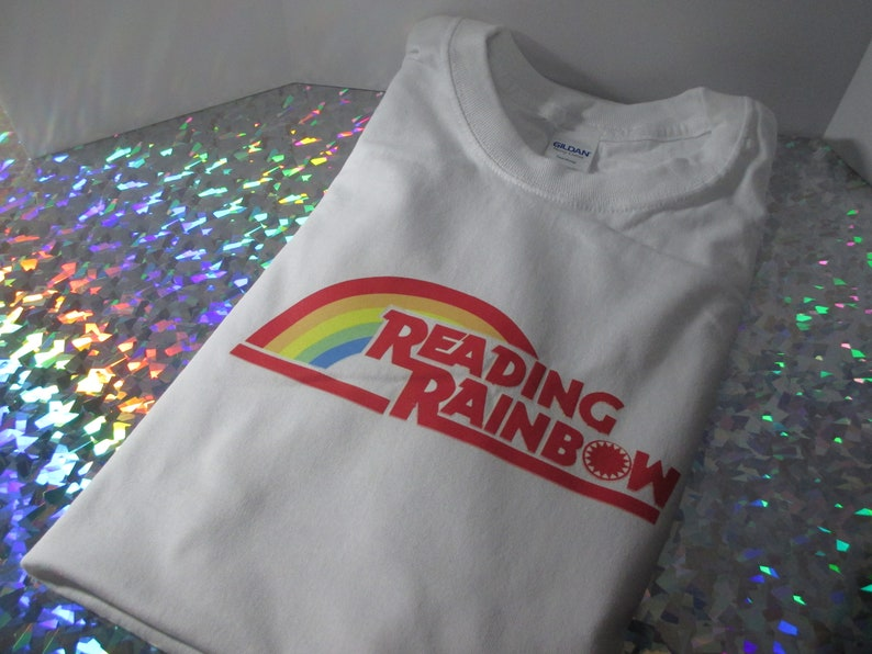 Reading Rainbow Retro design T Shirt / gift / for her / for image 2
