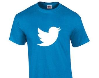 T-Shirt Twitter Social Media Messaging Platform Custom Shirt & Ink Color