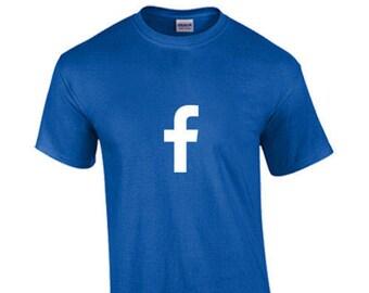 T-Shirt Facebook Social Media Networking Custom Shirt & Ink Color