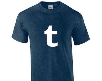 T-Shirt Tumblr Social Media Online Networking Blogging Custom Shirt & Ink Color