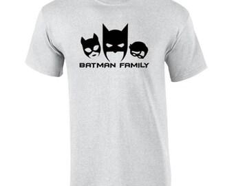 T-Shirt Batman Family Funny Custom Shirt & Ink Color