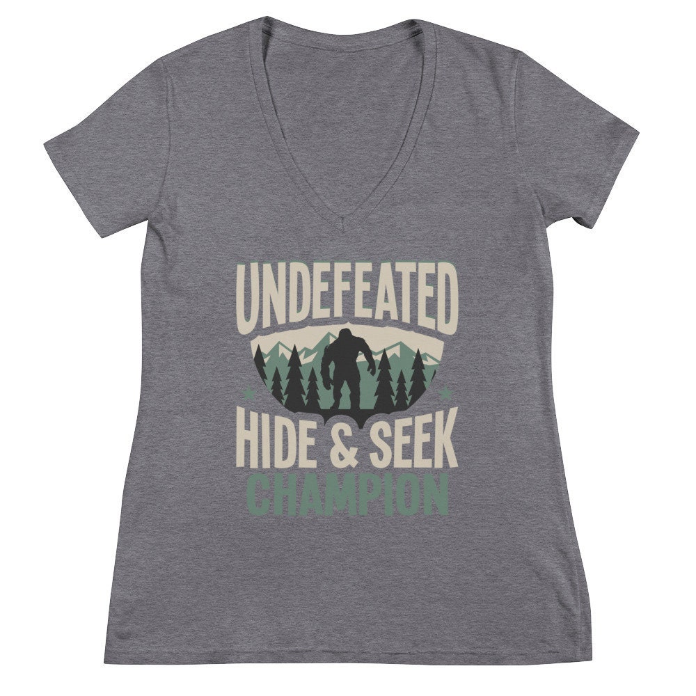 ca1247b76 Undefeated Hide & Seek Bigfoot Shirt Yeti Shirt Sasquatch | Etsy