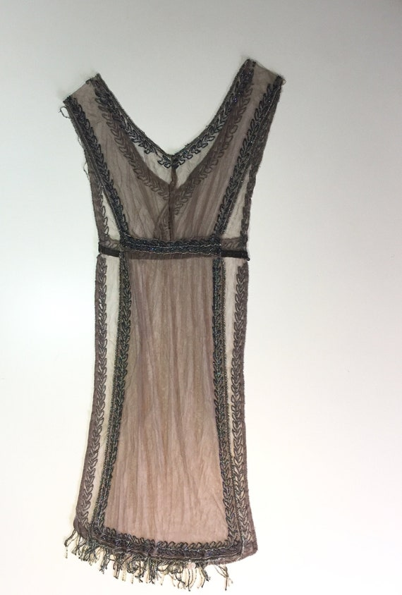 Antique Beaded Lace Dress