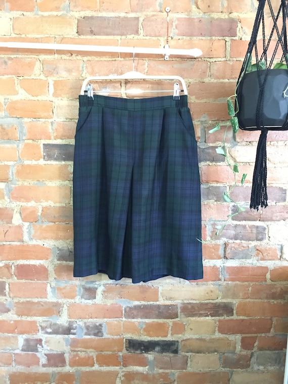 Plaid Culotte Shorts