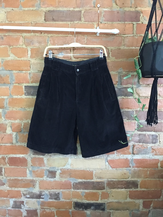 French Corduroy Culotte Shorts