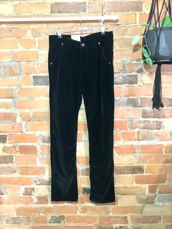 Darkest Green Velvet Jeans - New