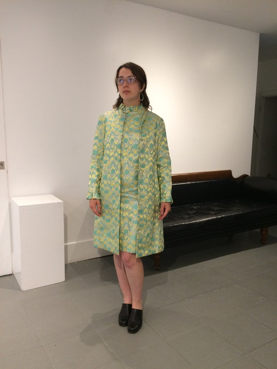 1960's Two Piece Shimmery Brocade Dress Suit