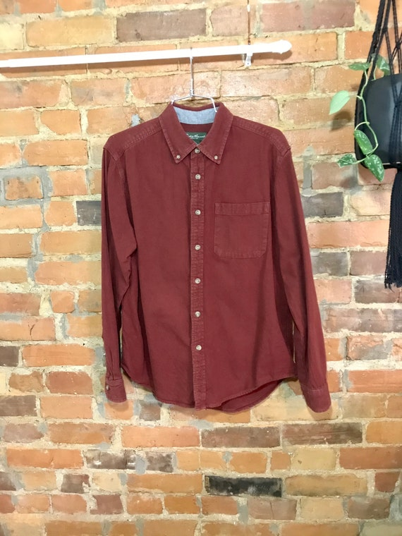 Brick Red Flannel Shirt