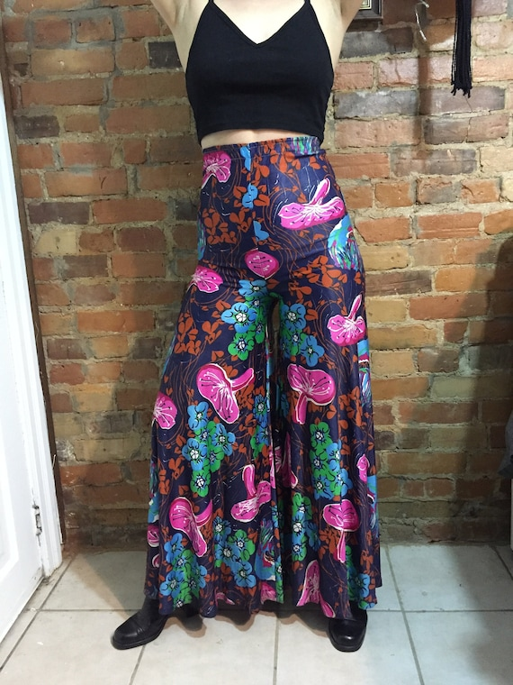 Psychedelic 1960's Silky Palazzo Pants