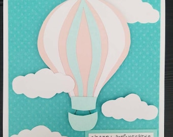 Hot air balloon card. Happy anniversary