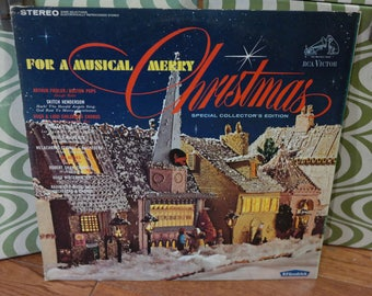 For A Musical Merry Christmas LP Record-RCA/Victor BF Goodrich Promo