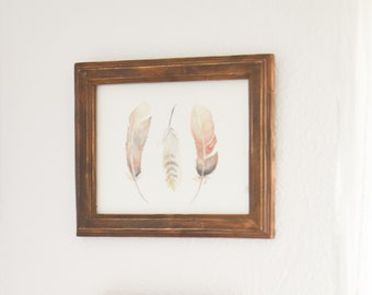 Feather Watercolor PRINT | Feathers, Watercolor, Birds, Boho Wall Art, Vertical Wall Decor, Feathers Painting, Feather Painting, Feather Art