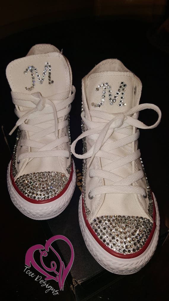 ff03c051c407 Girls Rhinestone Converse Shoes Bling Converse Shoes Custom