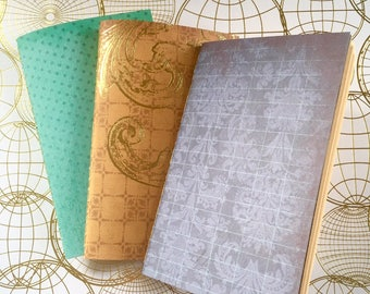 Travel Postage Themed Notebooks Set of 3