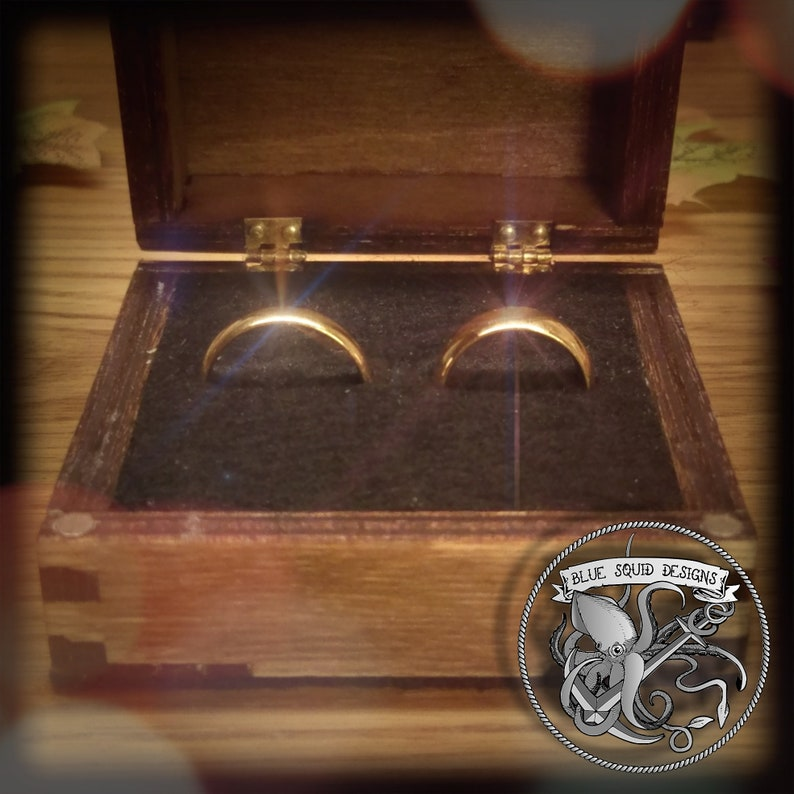 Handmade Wooden ring box Laser engraved with a custom design Ring box Fits one or two rings inside Wedding Ring box Engagement Ring box