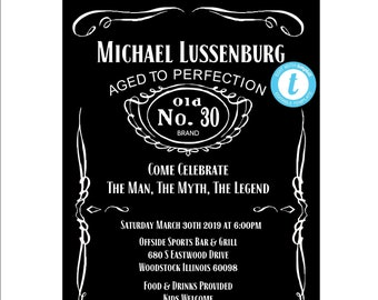Birthday Invitation The Man Myth Legend Invite Fully Editable