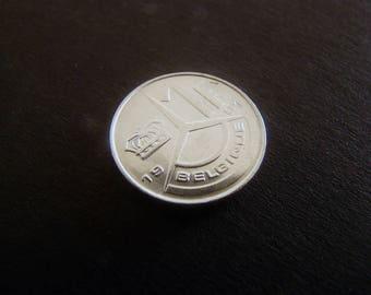Belgium, Baudouin I 1 Franc (French text), 1991
