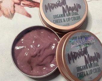 Midnight Mauve Cream Makeup | Multi-Purpose Cheek, Lip & Eye Tint | Zero-Waste, Organic, Natural, Non-Toxic Makeup