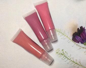 Natural Rose Quartz Lip Gloss | Vegan, Non-Toxic, Organic | Nourishing, Moisturizing Shimmer & Tint using PLANT PIGMENT