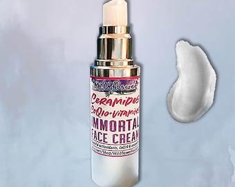 IMMORTAL • Ceramide + Antioxidant Face Cream | Ceramide Complex, CoQ10, Stem Cells, Goji Berry Extract | Organic All-Natural Vegan