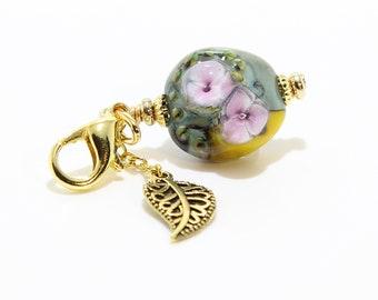 Lampwork Charm #96: Keychain Dangle, Bag Charm, Purse Bling
