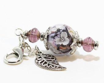 Lampwork Charm #101: Keychain Dangle, Bag Charm, Purse Bling