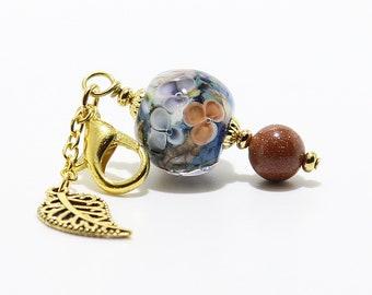 Lampwork Charm #105: Keychain Dangle, Bag Charm, Purse Bling