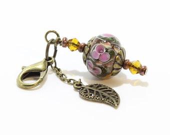 Lampwork Charm #98: Keychain Dangle, Bag Charm, Purse Bling