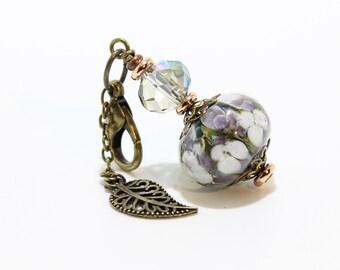 Lampwork Charm #97: Keychain Dangle, Bag Charm, Purse Bling
