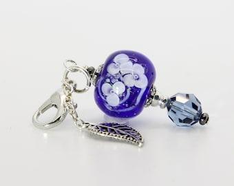 Lampwork Bead Charm #74: Keychain Dangle, Bag Charm, Purse Bling