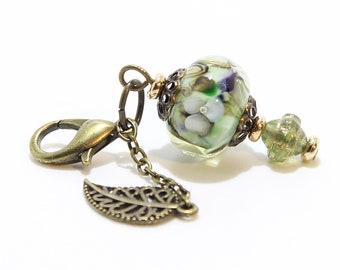 Lampwork Charm #100: Keychain Dangle, Bag Charm, Purse Bling